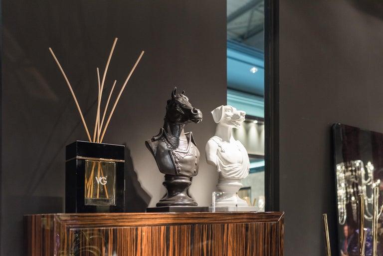 Bust Marengo, Black, in Ceramic, Italy For Sale 4