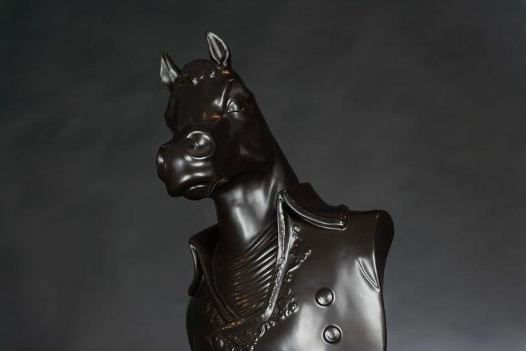 Italian Bust Marengo, Black, in Ceramic, Italy For Sale
