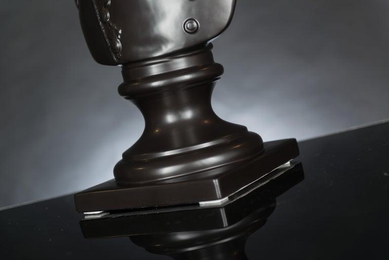 Bust Marengo, Black, in Ceramic, Italy For Sale 1