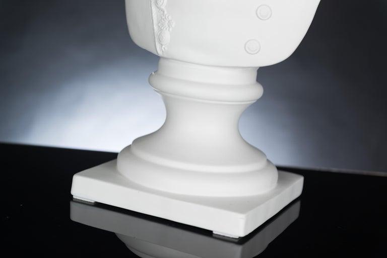 Bust Marengo, Black, in Ceramic, Italy For Sale 2