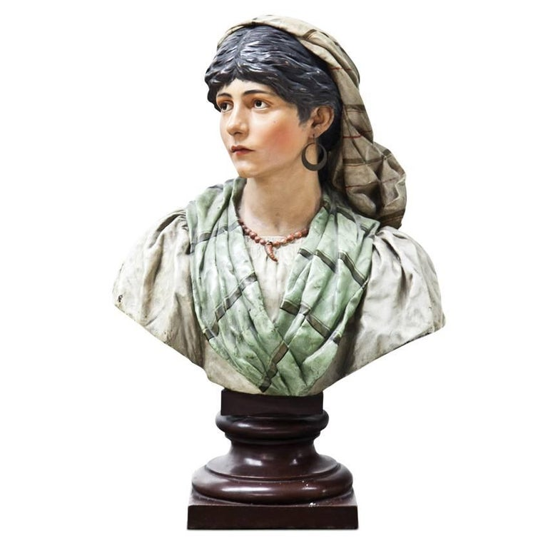 Bust of a Young Women, Signed J. Seidler (1867-1936), Karlsruhe, 1890