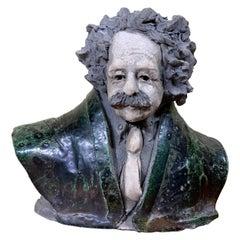 Bust of Albert Einstein, Sculpture 1984