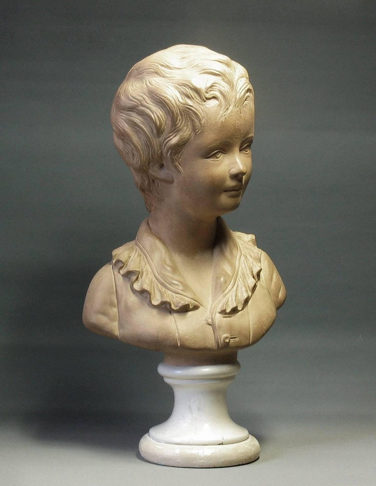 Hand-Crafted Bust of Alexandre Brongniart First Half of 20th Century For Sale