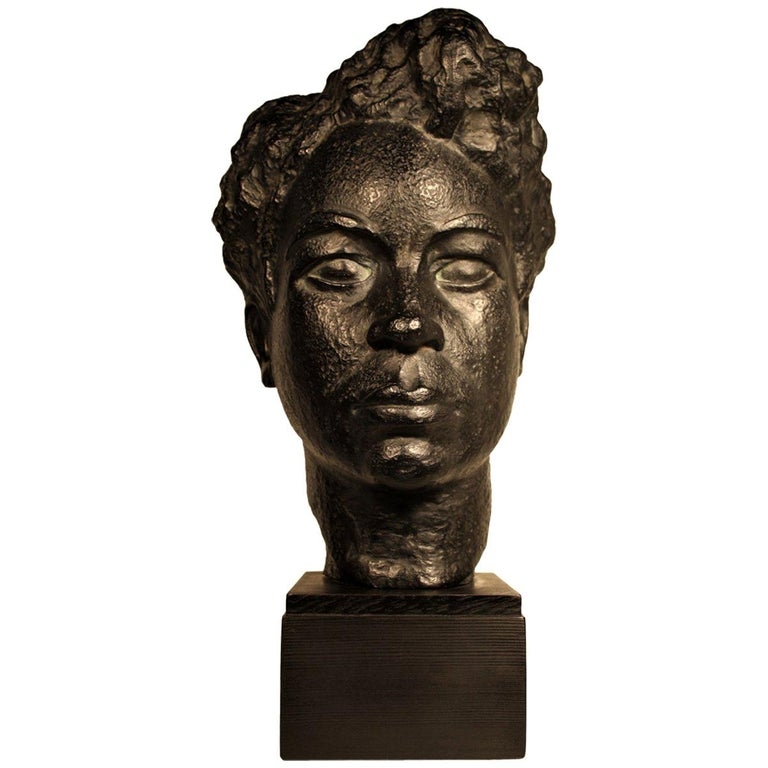 Bust of an African Woman by Marguerite Acarin For Sale