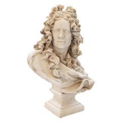 Bust of Corneille Van Cleve by Jean-Jacques Caffieri, Belgium, 19th Century