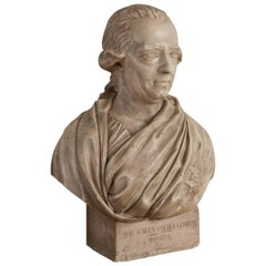 Bust of David Von Schulzenheim, Signed by Erik Gustav Göthe, Sweden, Dated 1821