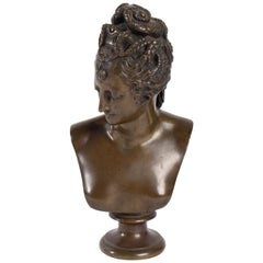 Bust of Diane De Poitier Bronze Patina, 19th Century, Napoleon III Period