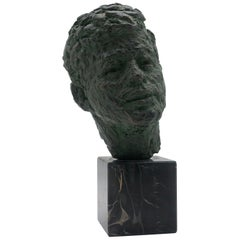 Bust of John Fitzgerald Kennedy of Bronze Patinated Plaster by Robert Berks