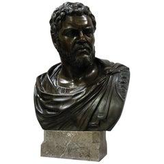 "Bust of the Roman Emperor Caracalla, Signed ""Gianbologna"", 20 th Century"