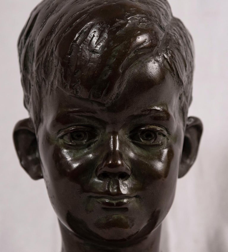 In the late 1920s, the Lithuanian sculptor Nison Tregor (Lithuania/America, 1904-1972)) was commissioned by Joseph P. Kennedy, Sr. to do portraits of his children. There were at least two sculptures cast, one that grouped three of the children