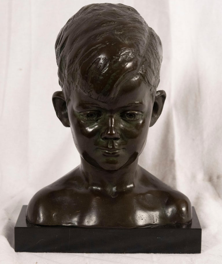 Cast Bust of Young John F. Kennedy by Nison Tregor For Sale