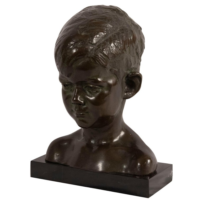 Bust of Young John F. Kennedy by Nison Tregor For Sale