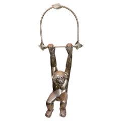 Bustamante Hanging Brass Monkey