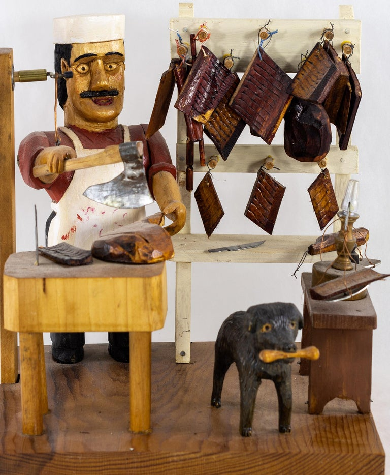 Carved and painted by John (Ivan) Bambic, b. 1922.