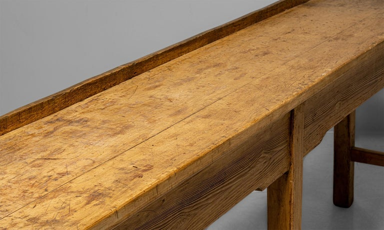 Industrial Butchers Bench Work Table, England circa 1890 For Sale