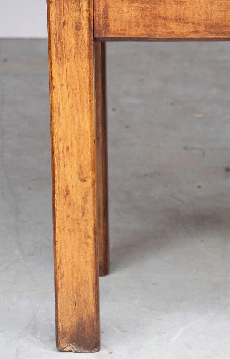 Butcher's Chopping Block Table on Stand from France For Sale 11