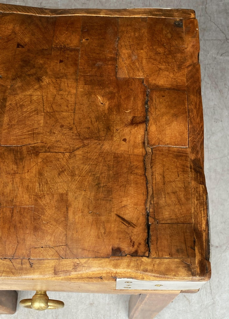 Butcher's Chopping Block Table on Stand from France In Good Condition For Sale In Austin, TX