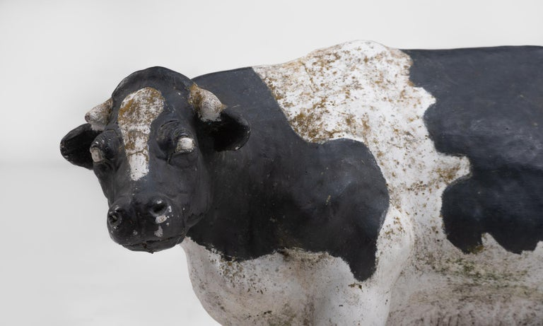 Butchers Stone Cow, circa 1950 In Good Condition For Sale In Culver City, CA