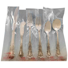 Buttercup by Gorham Sterling Silver Flatware Service Set 82 Pcs Place Size New