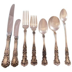 Buttercup by Gorham Sterling Silver Flatware Set for Eight Service 59 Pcs