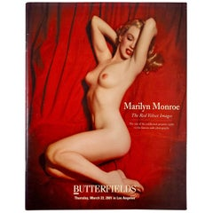 Butterfields Auction Catalogue, Marilyn Monroe, The Red Velvet Images, 2001