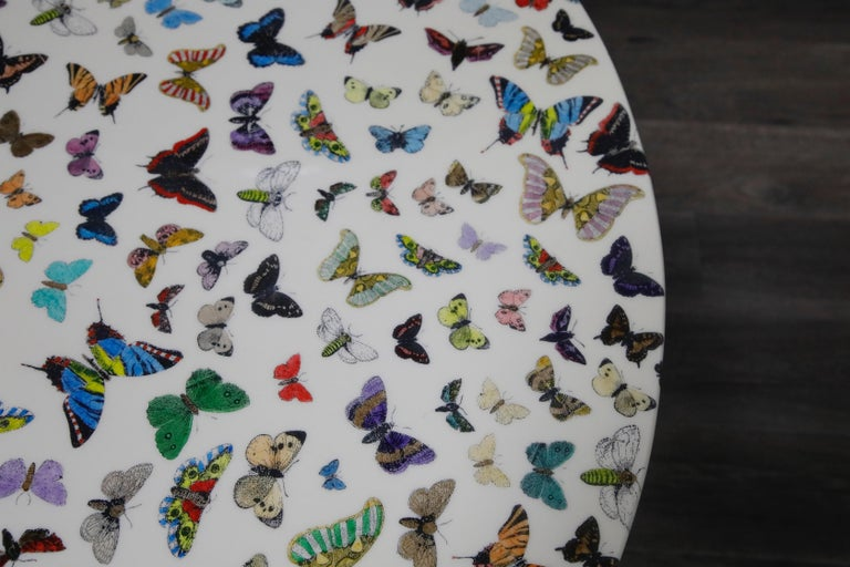 'Butterflies' Dining Table by Piero Fornasetti, circa 1960s Italy, Signed  For Sale 2