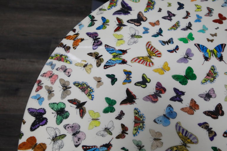 'Butterflies' Cafe Dining Table by Piero Fornasetti, circa 1960s Italy, Signed  For Sale 3