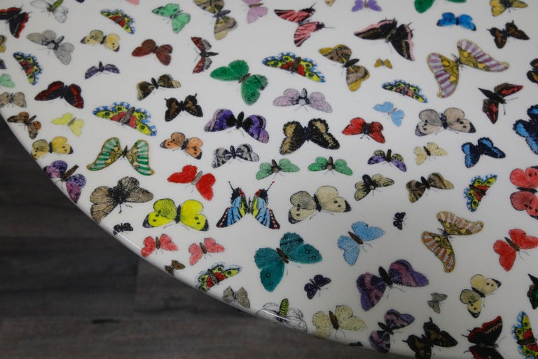 'Butterflies' Cafe Dining Table by Piero Fornasetti, circa 1960s Italy, Signed  For Sale 4
