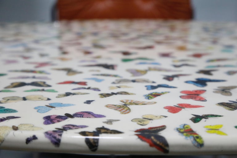 'Butterflies' Dining Table by Piero Fornasetti, circa 1960s Italy, Signed  For Sale 6