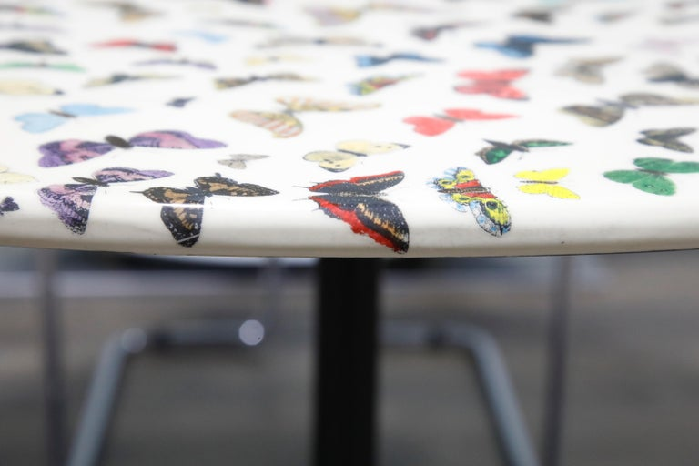 'Butterflies' Cafe Dining Table by Piero Fornasetti, circa 1960s Italy, Signed  For Sale 10