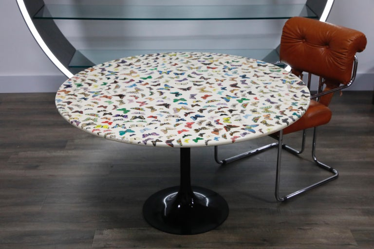 Mid-Century Modern 'Butterflies' Cafe Dining Table by Piero Fornasetti, circa 1960s Italy, Signed  For Sale