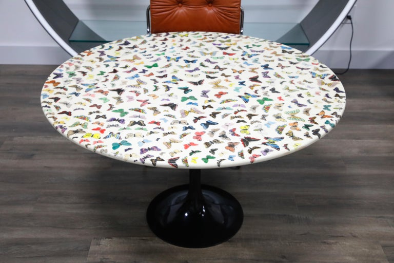 Italian 'Butterflies' Cafe Dining Table by Piero Fornasetti, circa 1960s Italy, Signed  For Sale