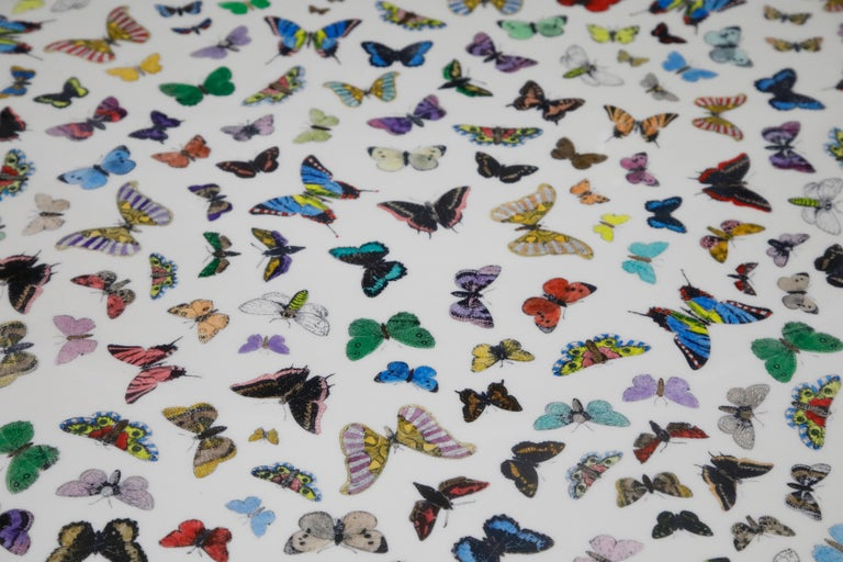 Mid-20th Century 'Butterflies' Dining Table by Piero Fornasetti, circa 1960s Italy, Signed  For Sale