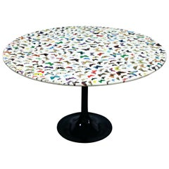 'Butterflies' Cafe Dining Table by Piero Fornasetti, circa 1960s Italy, Signed