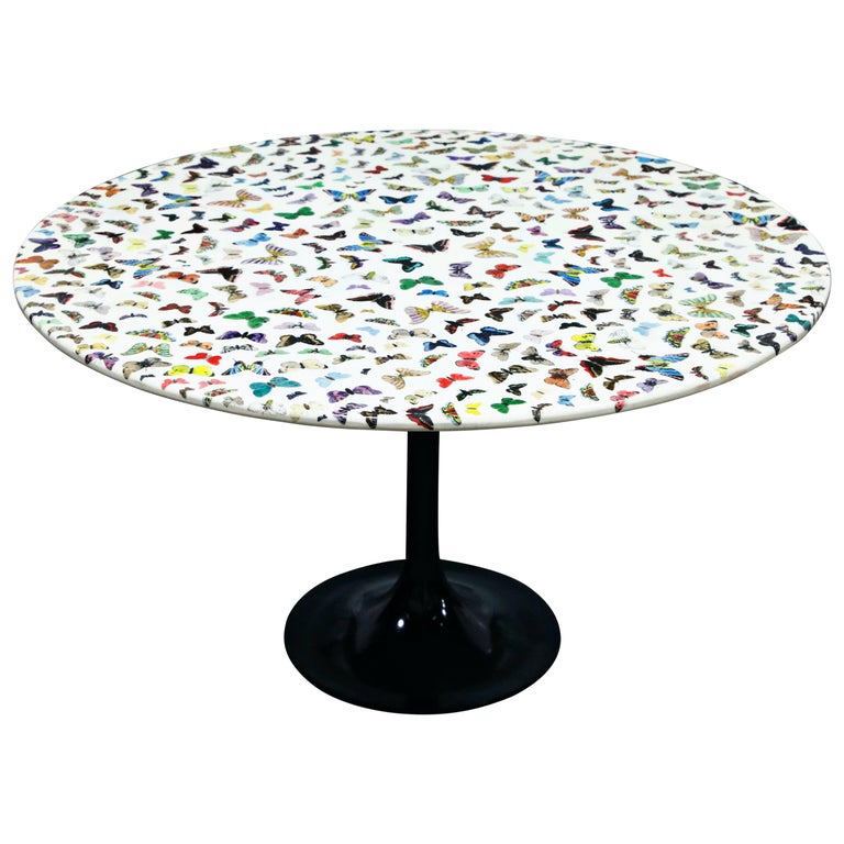 'Butterflies' Cafe Dining Table by Piero Fornasetti, circa 1960s Italy, Signed  For Sale
