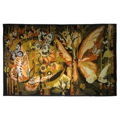 """Butterflies"" Tapestry Signed ""Hervé Lelong"""