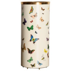 'Butterflies' Umbrella Stand by Piero Fornasetti, circa 1960s Italy, Signed