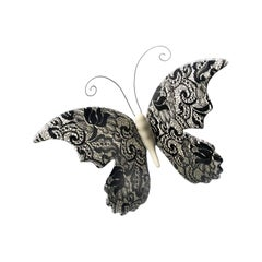 Butterfly, Ceramic Butterfly with Lace Decoration by Gabriella B. Made in Italy