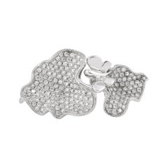 Butterfly Diamond Ring in 14 Karat White Gold