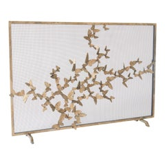 Butterfly Fire Screen in Aged Gold