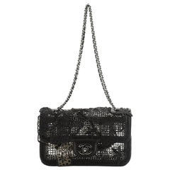 Butterfly Mesh Flap Bag Metal and Lambskin Small