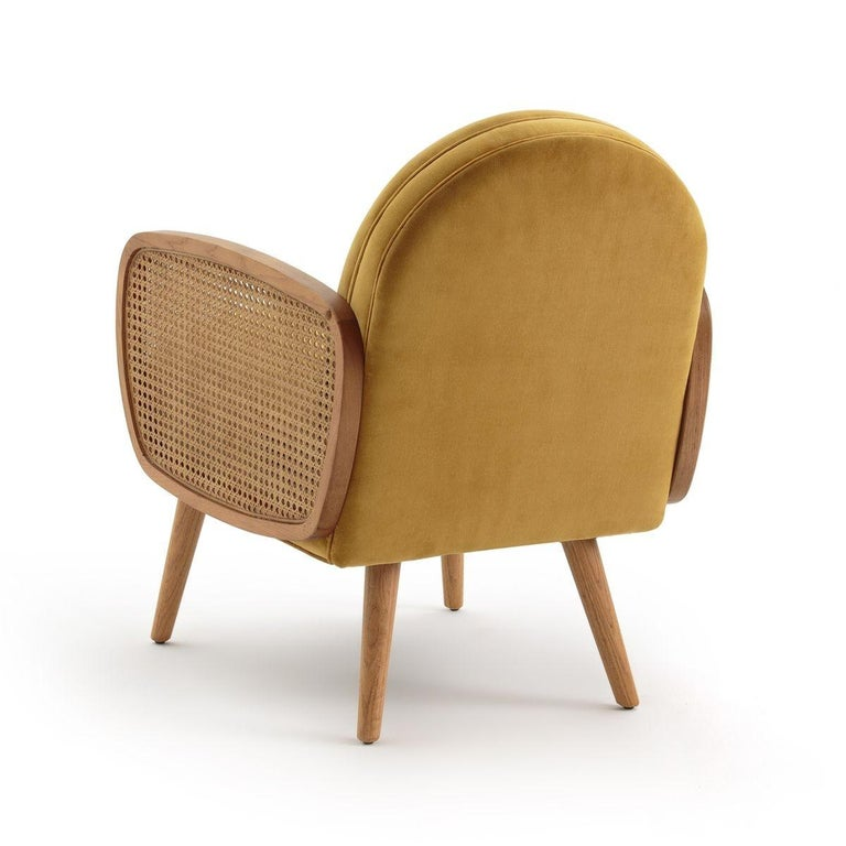 Contemporary Butterfly Rattan Armchair, French Modern Armchair in Vintage Style For Sale