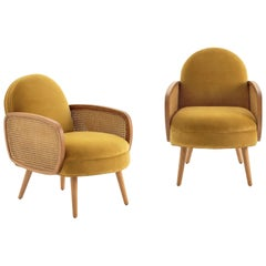 Two Modern Butterfly Rattan Armchair in Vintage Style.