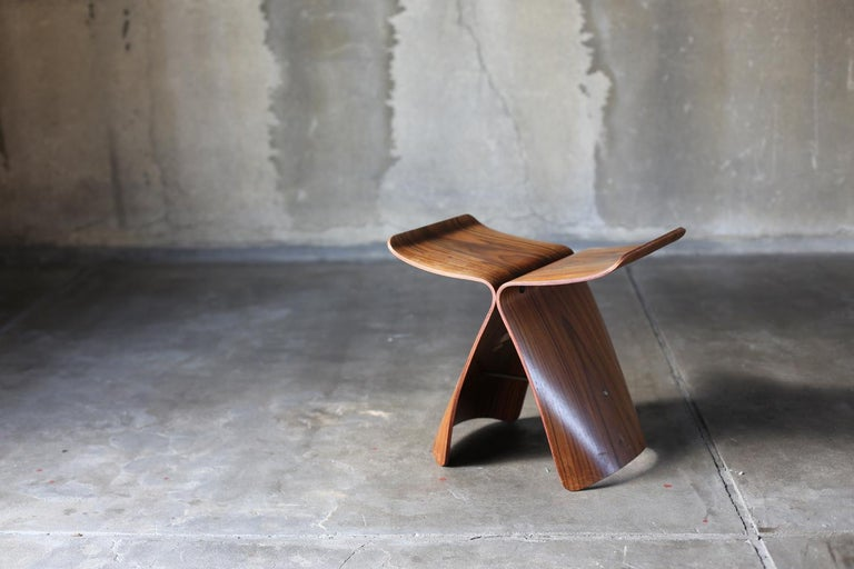 Mid-Century Modern Butterfly Stool by Sori Yanagi for Tendo Mokko For Sale