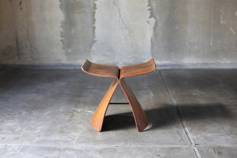 Japanese Butterfly Stool by Sori Yanagi for Tendo Mokko For Sale