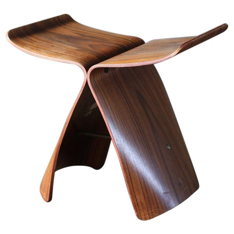 Butterfly Stool by Sori Yanagi for Tendo Mokko For Sale