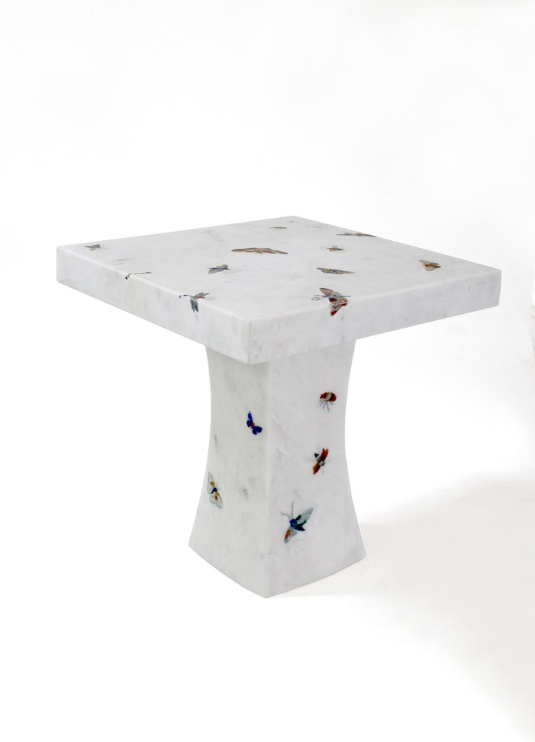 Hand-Carved Butterfly Table For Sale