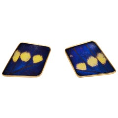 Butterfly Wing Yellow Gold Cufflinks