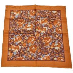 Butternut Floral Silk Scarf