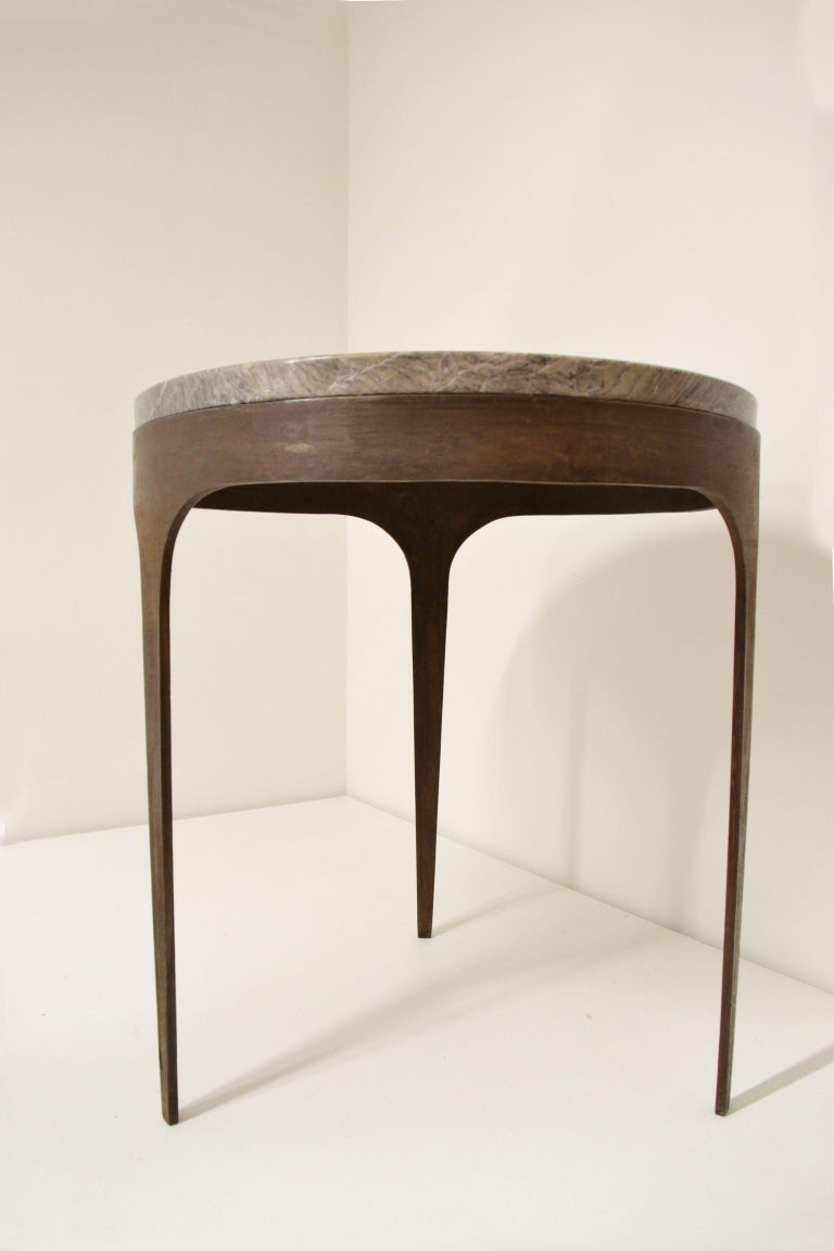 Modern 'Button' Centre / Coffee Table in Italian Viola Marble For Sale